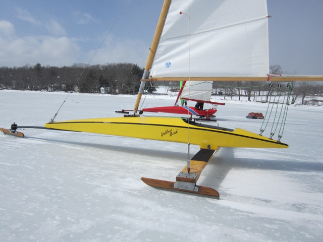 Yellow bird is for sale 2500 test chickawaukie ice for Ice scratcher boat motor for sale